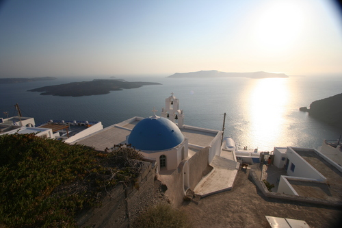 Blue Church Caldera Sunset