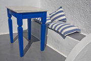 Blue Table with Bench