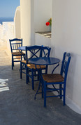 Geranium and Chairs