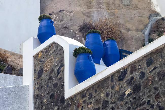 Blue Urns
